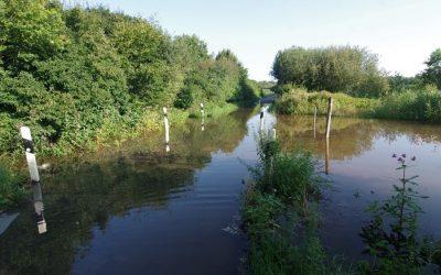Sommerhochwasser an der Ems im Kreis Steinfurt
